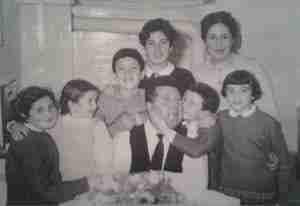 Nicolò Barbini con la famiglia